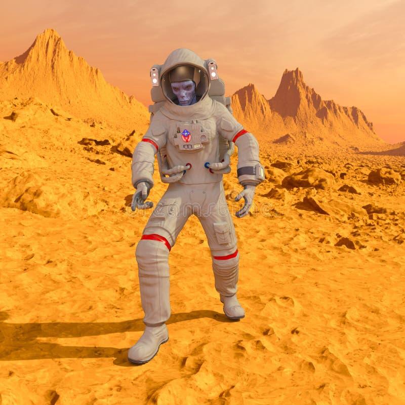 Astronauta dos estrangeiros imagem de stock