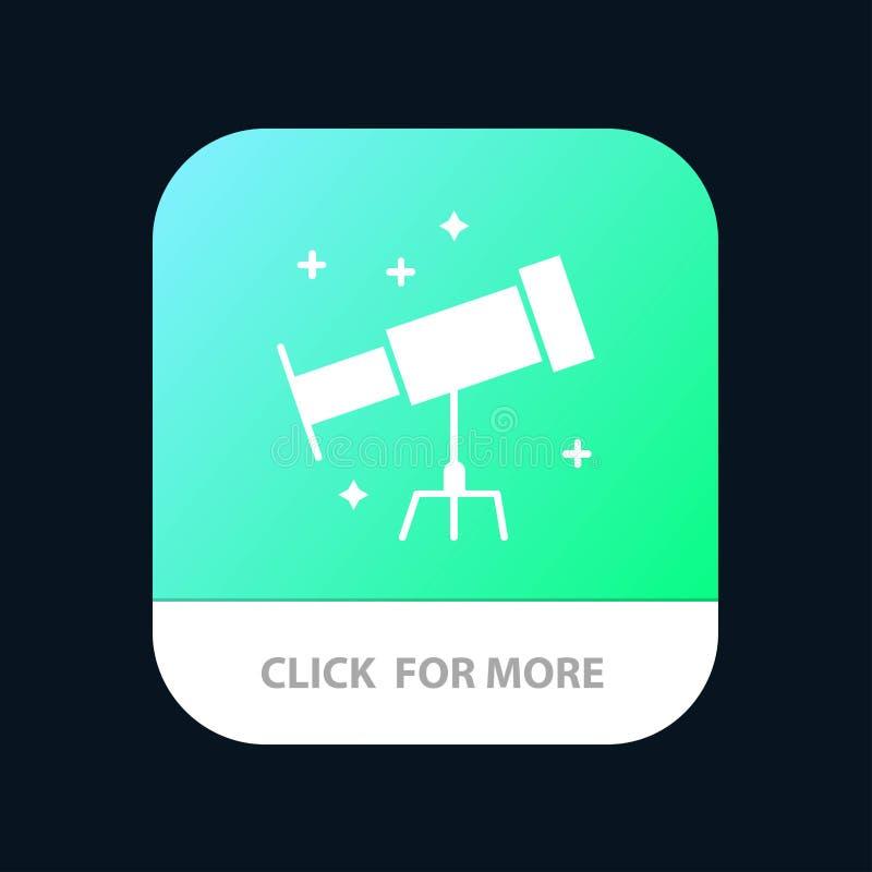 Astronauta, espacio, botón móvil del App del telescopio Android y versión del Glyph del IOS libre illustration