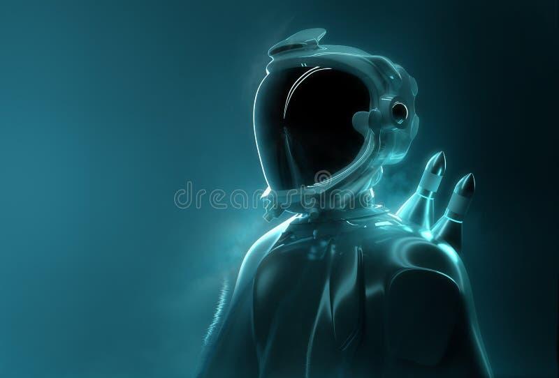 Astronauta futurista - tecnologia avançada foto de stock royalty free