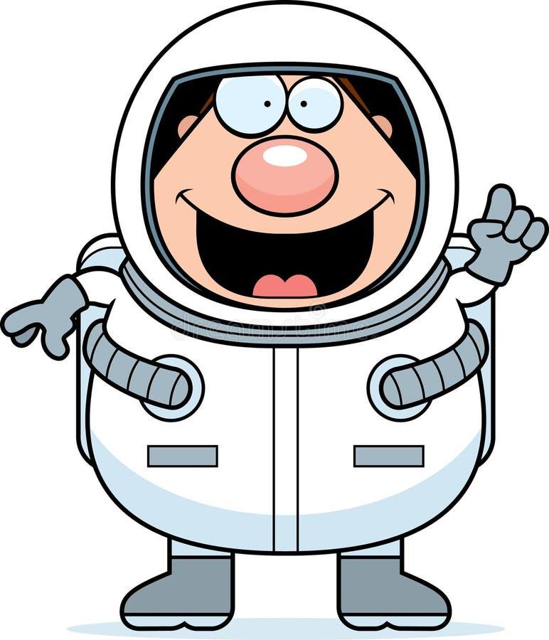 Astronauta Idea dos desenhos animados ilustração stock