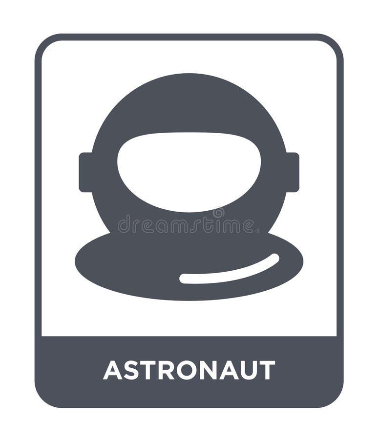 astronauta ikona w modnym projekta stylu Astronauta ikona odizolowywająca na białym tle astronauta wektorowej ikony prosty i nowo ilustracja wektor