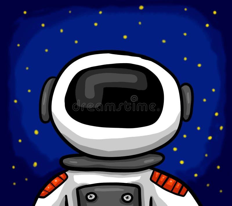 Astronauta impresionante In Space libre illustration