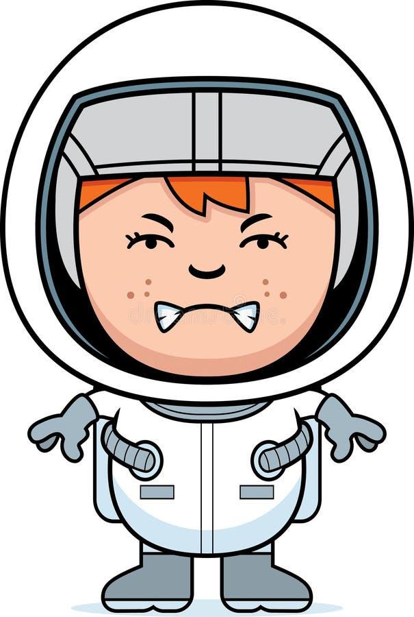Astronauta irritado do menino ilustração royalty free