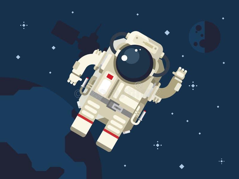 astronauta kosmos ilustracja wektor