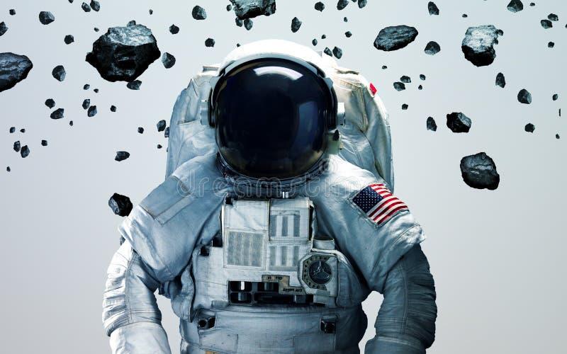 Astronauta na arte minimalistic moderna do espaço Elementos desta imagem fornecidos pela NASA ilustração do vetor