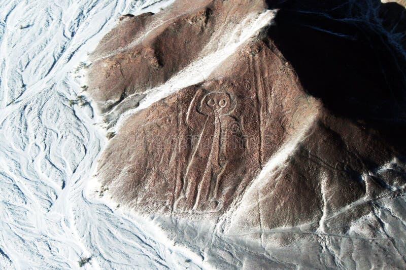 Astronauta Nazca fotografia de stock