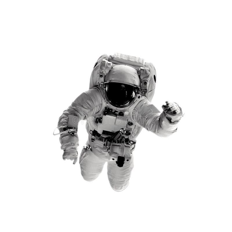 Astronauta nos fundos brancos foto de stock royalty free