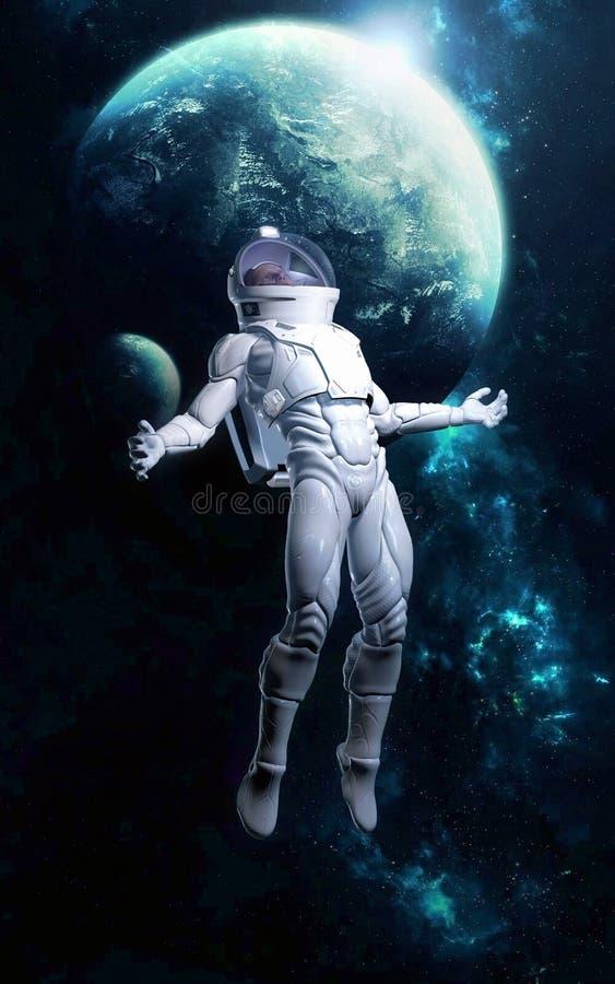 Astronauta perso nello spazio royalty illustrazione gratis