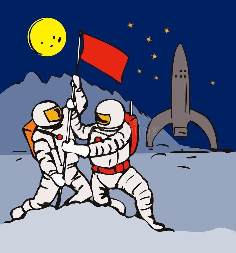 astronauta przestrzeń ilustracja wektor