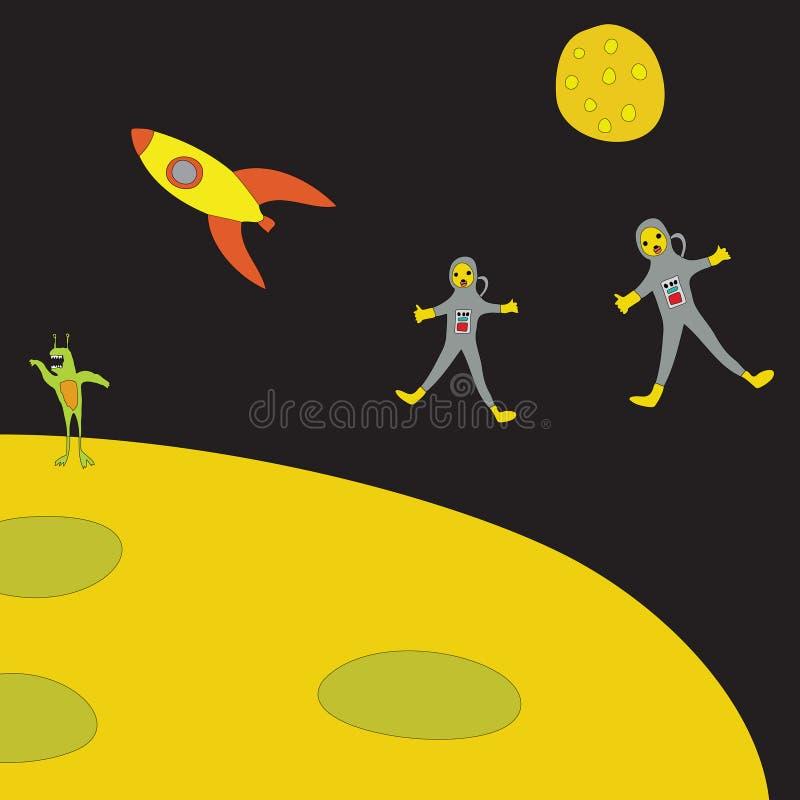 astronauta przestrzeń s ilustracji