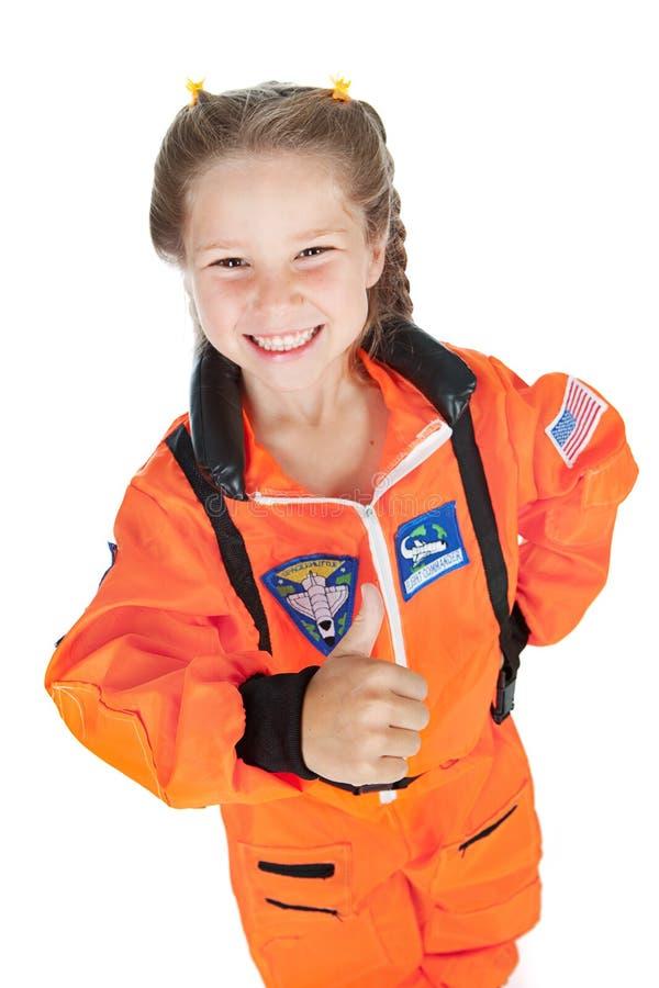 Astronauta: Pulgares para arriba para la misión imagenes de archivo