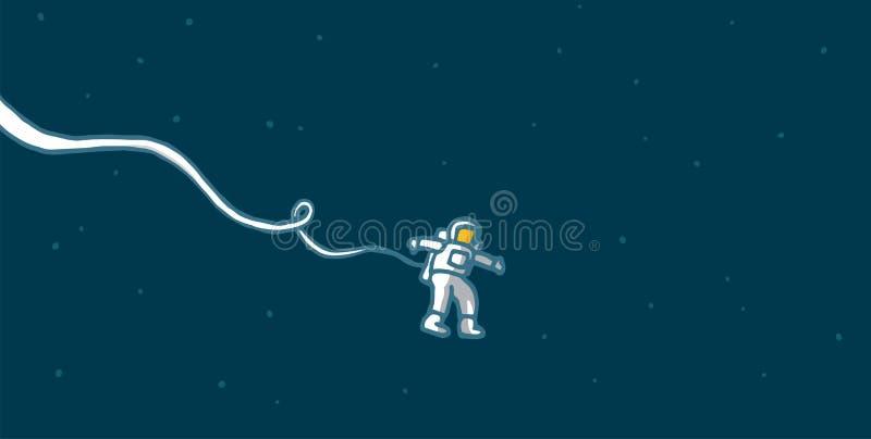 Astronauta só no espaço ilustração royalty free