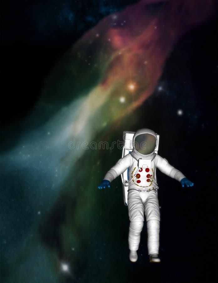 Astronauta Spacewalk Bada Wszechrzeczą ilustrację ilustracja wektor