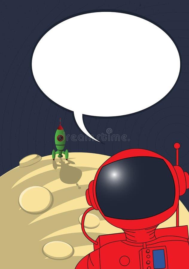 astronauta splatający ilustracja wektor
