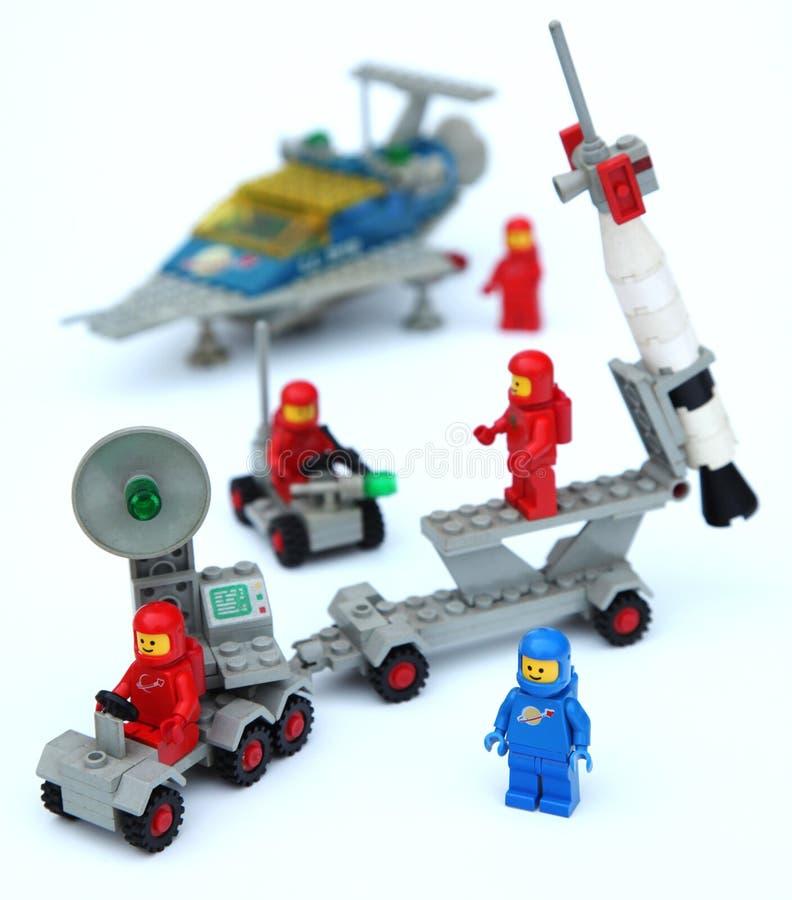 Astronautas base lunar fotografía de archivo libre de regalías