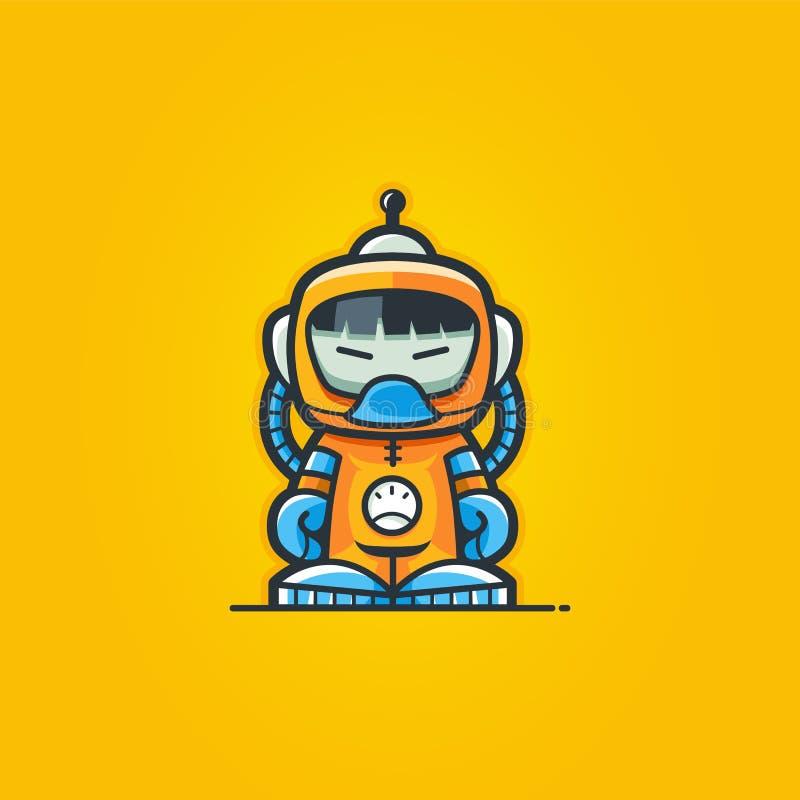 Astronautastronaut Character stock illustrationer