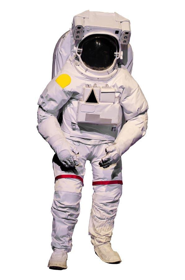 Astronautdräkt på vit bakgrund royaltyfri foto