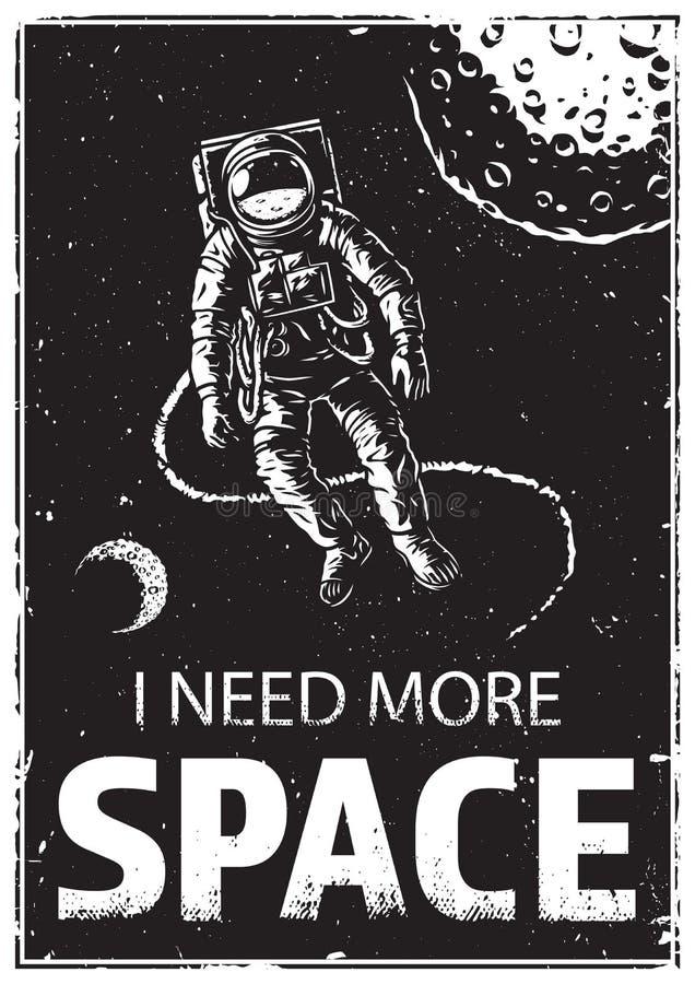 Astronaute au spacewalk illustration stock