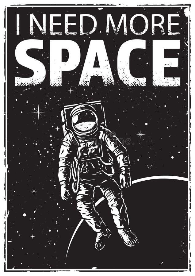 Astronaute au spacewalk illustration de vecteur