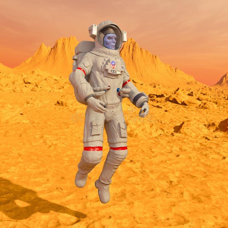 Astronaute d'étrangers photographie stock libre de droits