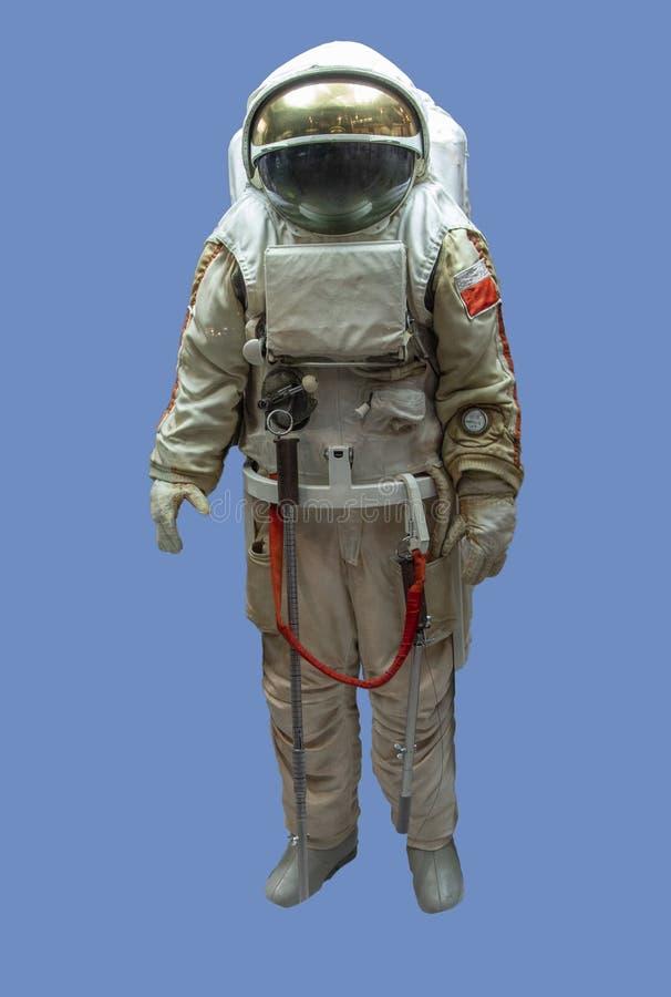 Astronaute dans l'espace Conquête du concept spatial, isoler sur fond bleu photographie stock