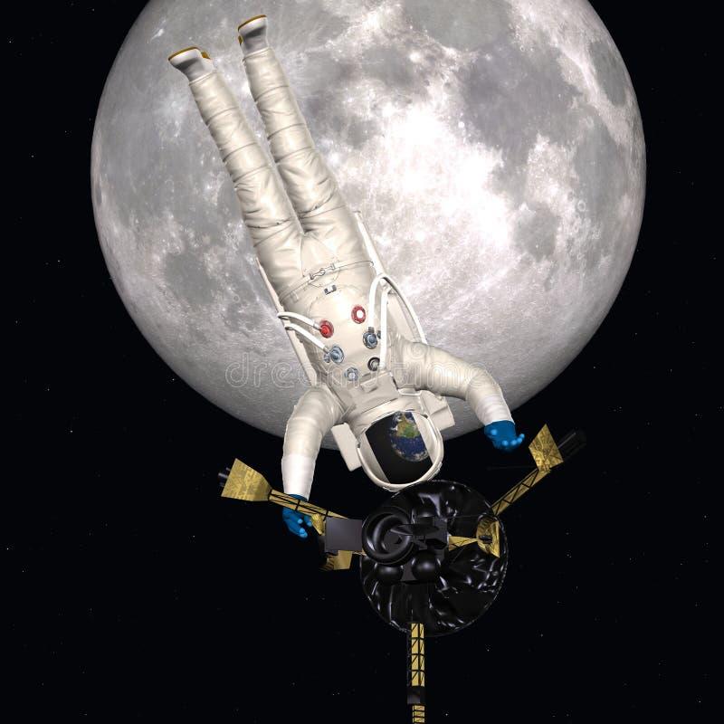 Astronaute dans l'espace extra-atmosphérique illustration stock
