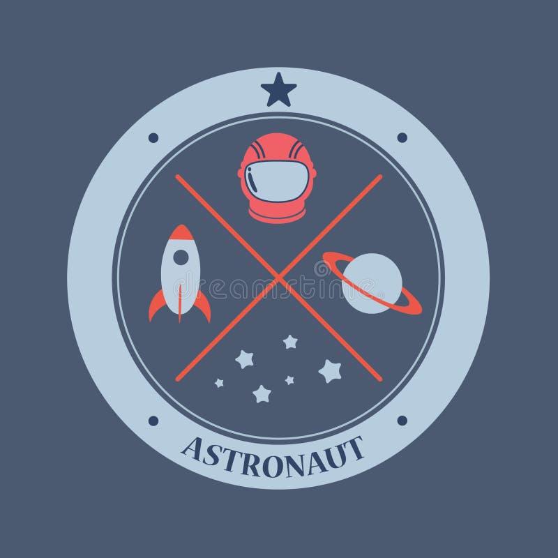 Astronaute et galaxie photos stock