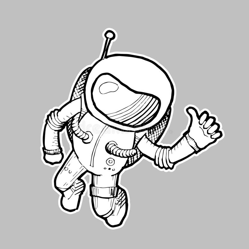 Astronaute Illustration illustration libre de droits