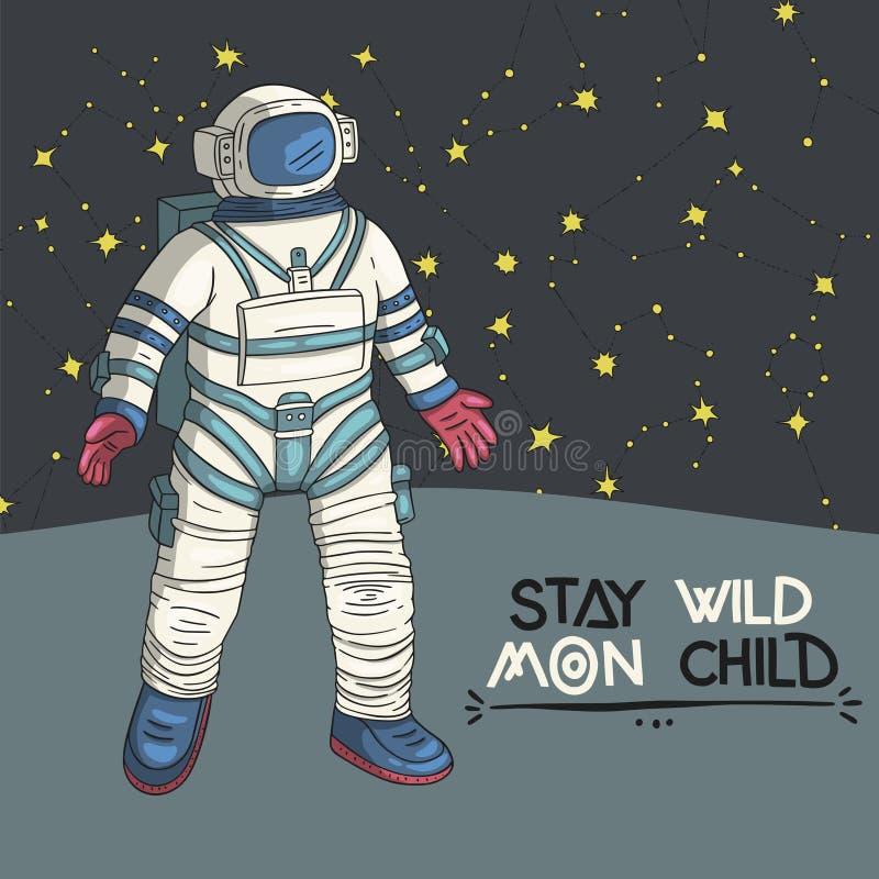 Astronaute, illustration de vecteur illustration stock