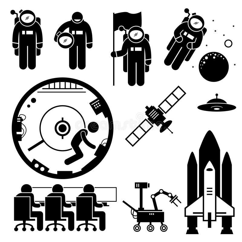 Astronaute Space Exploration Clipart illustration stock