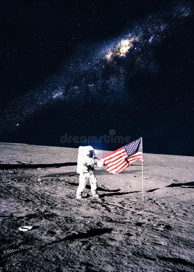 Astronaute sur la lune photographie stock