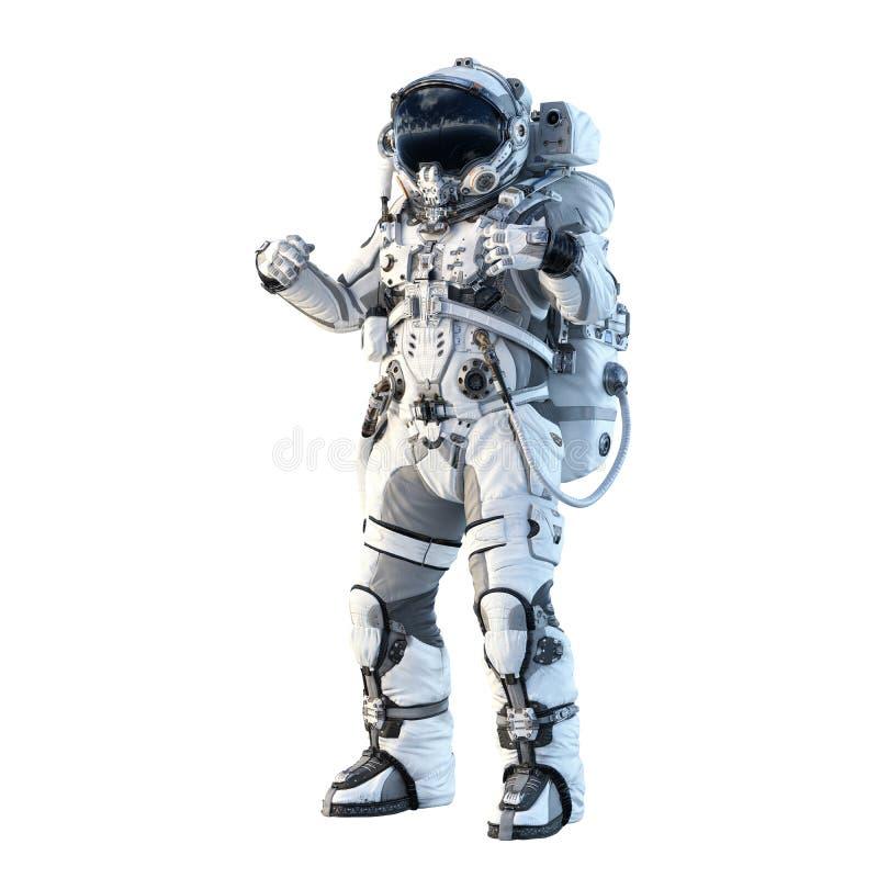 Astronaute sur le blanc Media mélangé photos libres de droits