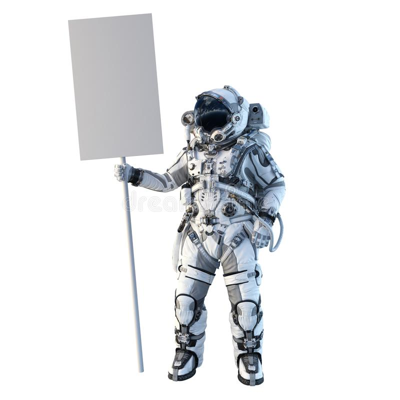 Astronaute sur le blanc Media mélangé photo stock
