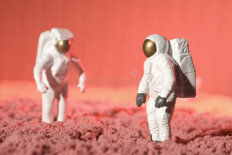 Astronauten royalty-vrije stock afbeeldingen