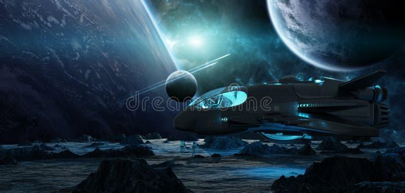 Astronauten, die Elemente einer sternartige Wiedergabe 3D von diesem i erforschen vektor abbildung