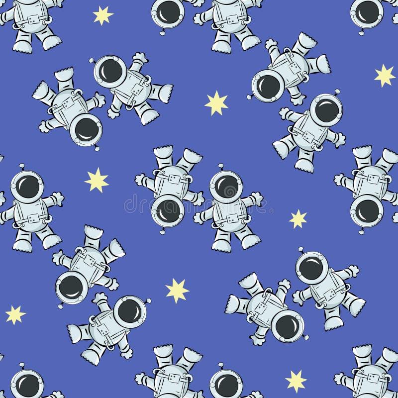 Astronauten in kosmische ruimte vector illustratie