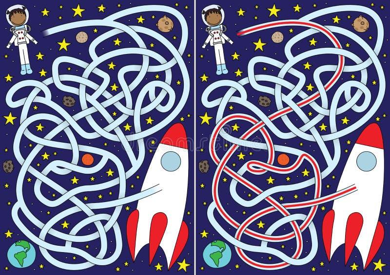 Astronautenlabyrinth stock abbildung