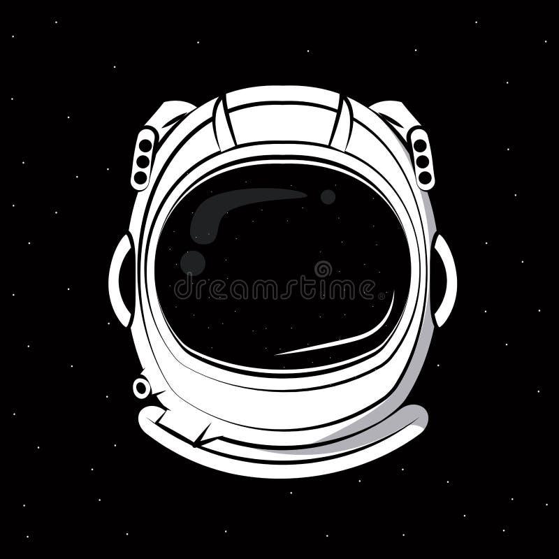 Astronautensturzhelmdruck für T-Shirt lizenzfreie abbildung