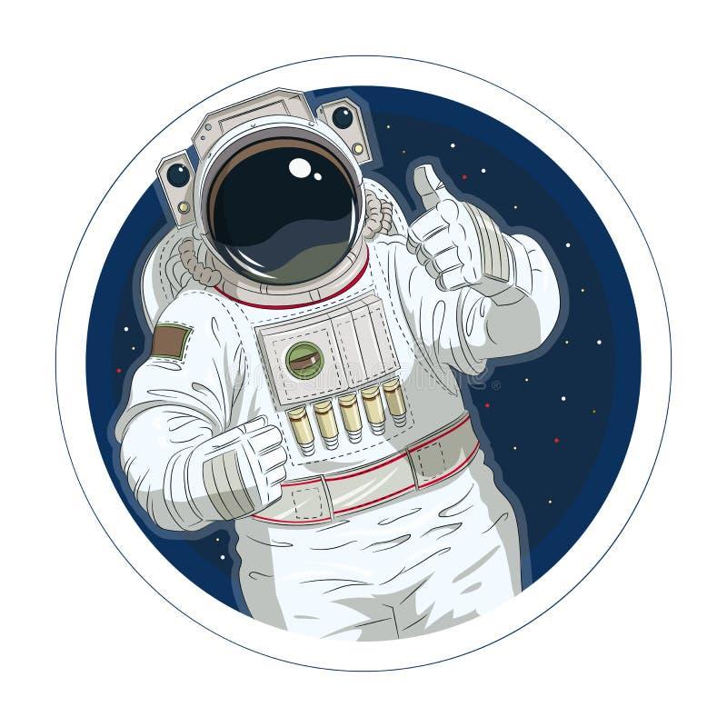 Astronautgestgodkännande royaltyfri illustrationer