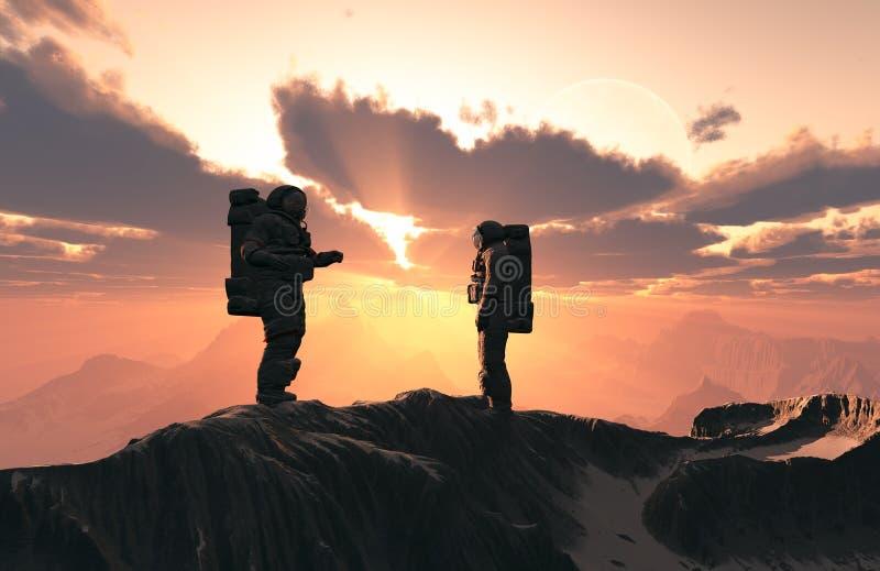 The astronauts vector illustration