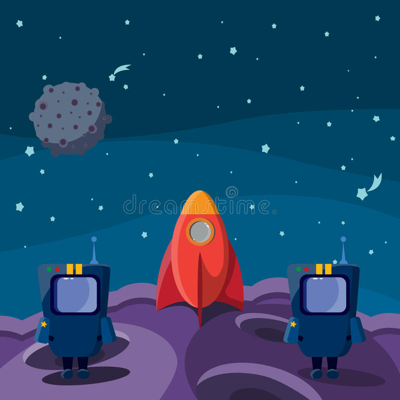 Download Astronauts stock vector. Image of astronomy, future, missile - 28734750