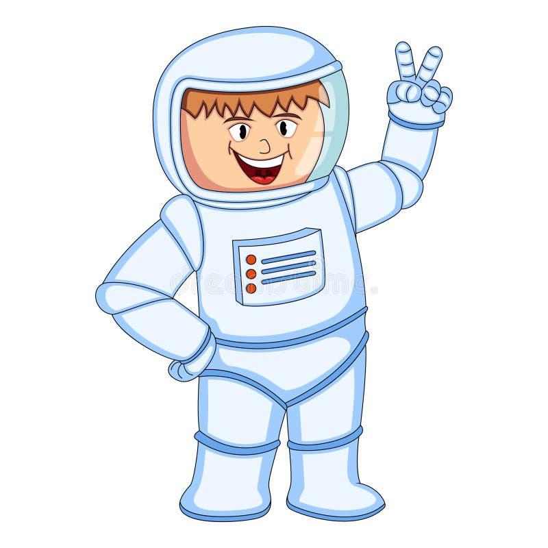 Astronauts Men cartoon stock illustration