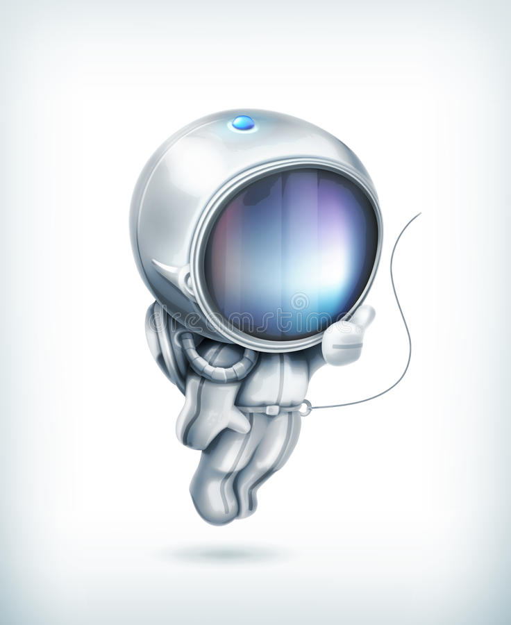 Astronautsymbol stock illustrationer