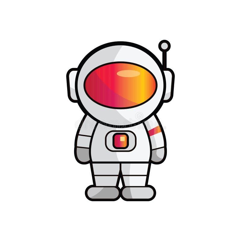 Astronauty robota wektor ilustracja wektor