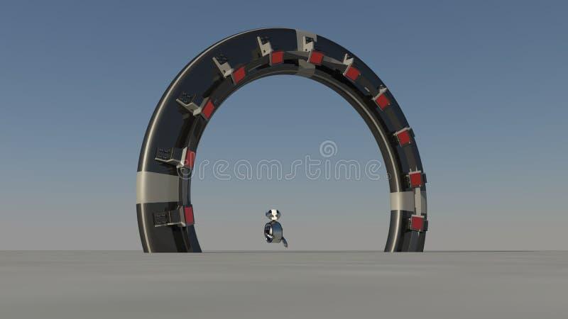 Astronautyczna brama ilustracji
