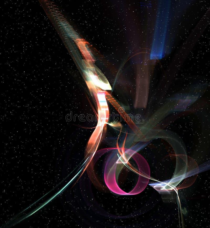 Astronautyczna fantazja, światła Dziwaczni ilustracji