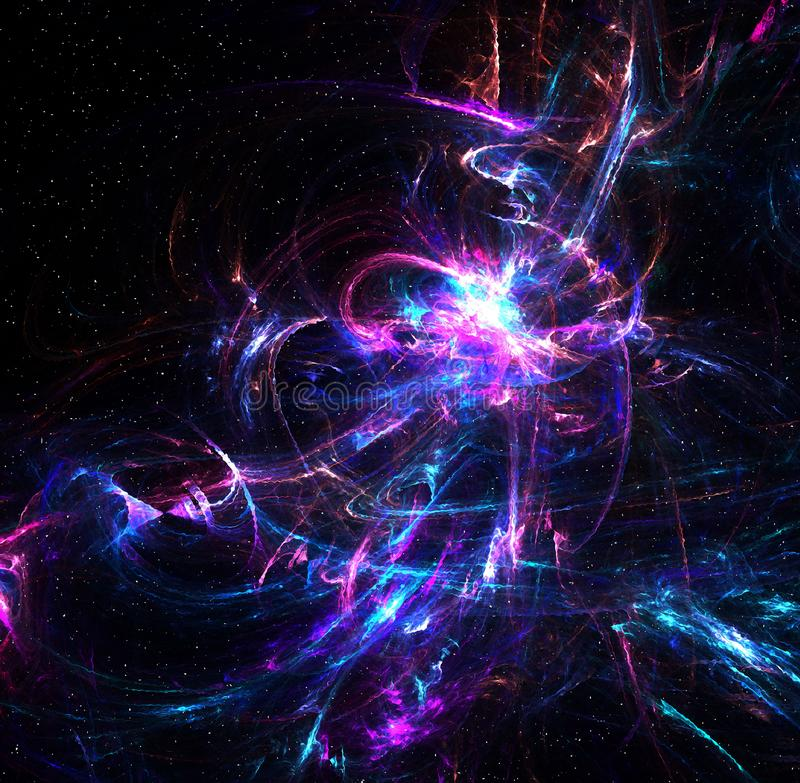 Astronautyczna fantazja, czochry światło ilustracja wektor
