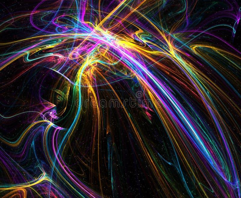 Astronautyczna fantazja, fuzji światło ilustracja wektor