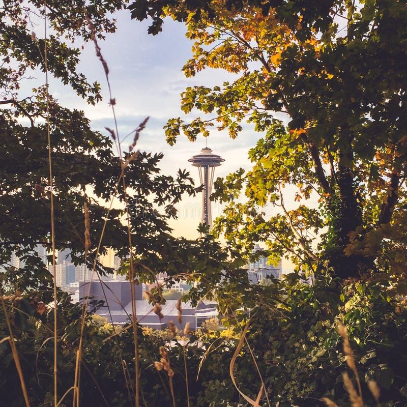 Astronautyczna igła w Seattle, WA, usa obraz royalty free