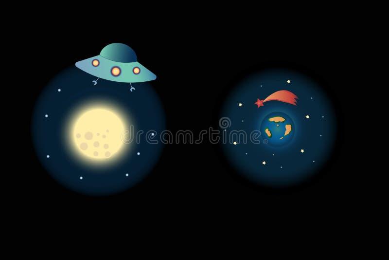 Astronautyczna ikona zdjęcia stock